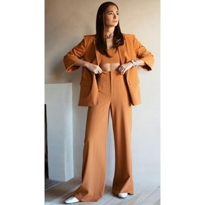 Danielle Bernstein pinstripe trouser pants